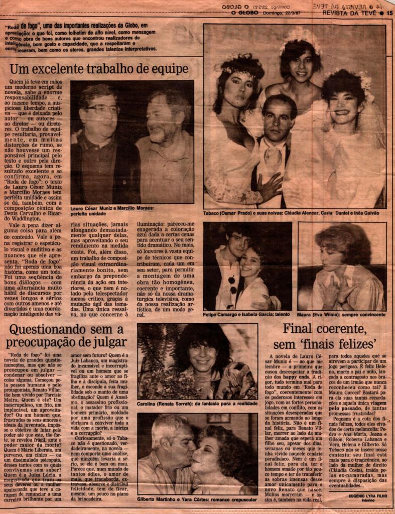 Obras_Novelas_Roda de Fogo_Clipping_O Globo_22.03.1987