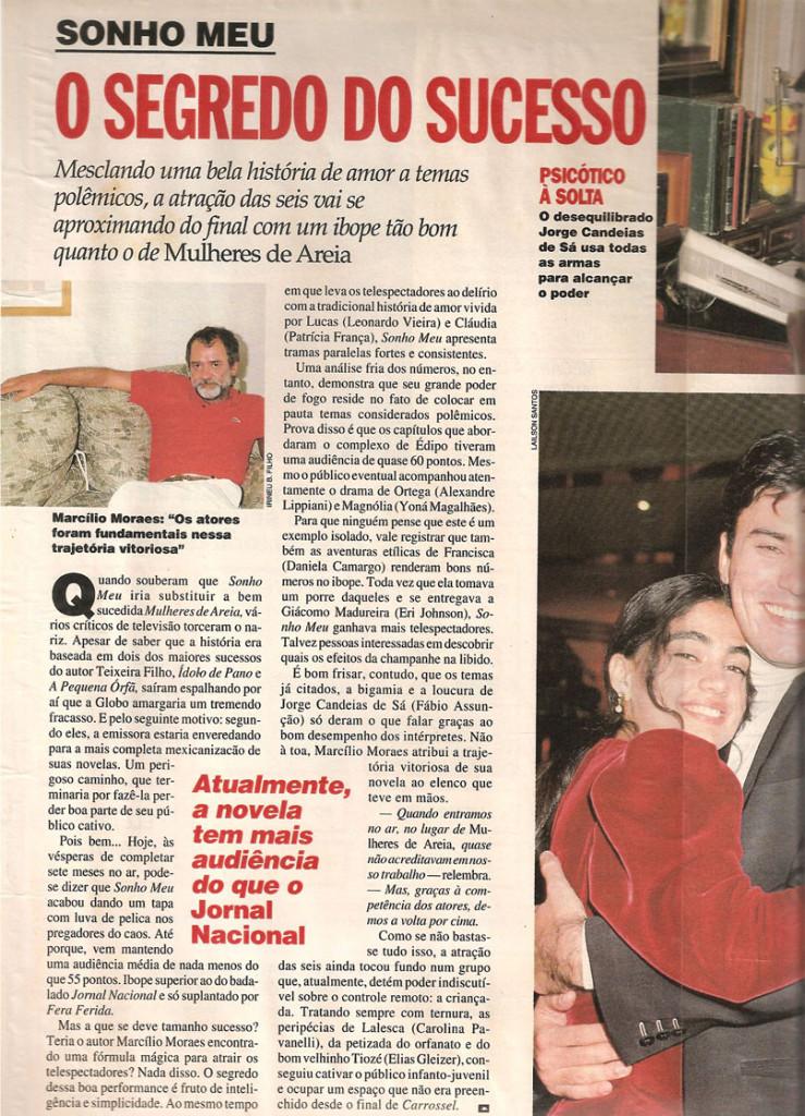 Obras_Novelas_Sonho Meu_Clipping_Imagem 6_Revista Contigo_26.04.94