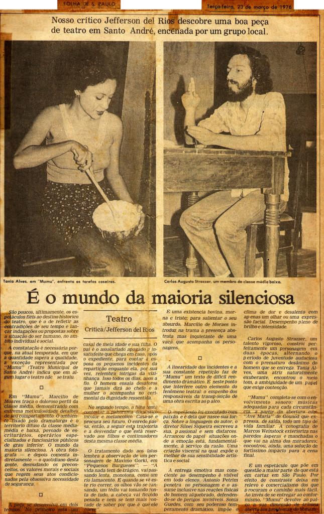 Imagem 2_Crítica Mumu_Folha SP__23.03.1976_Autor Jefferson Del Rios
