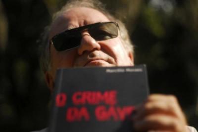 Marcilio Moraes e o seu livro, O Crime da Gávea.