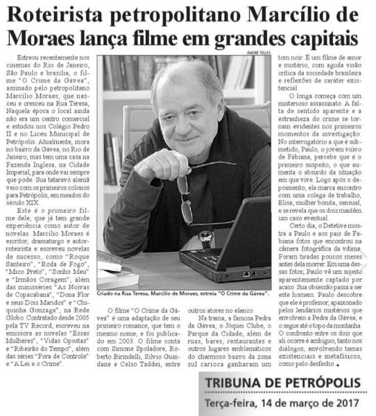 """Criado na Rua Teresa, Marcílio Moraes estreia """"O Crime da Gávea"""""""